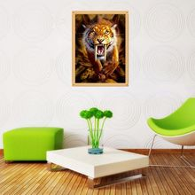 Tiger DIY 5D Full Drill Diamond Painting Embroidery Cross Stitch Kit Rhinestone  Home Decor Craft cat diy 5d full drill diamond painting embroidery cross stitch kit rhinestone home decor craft
