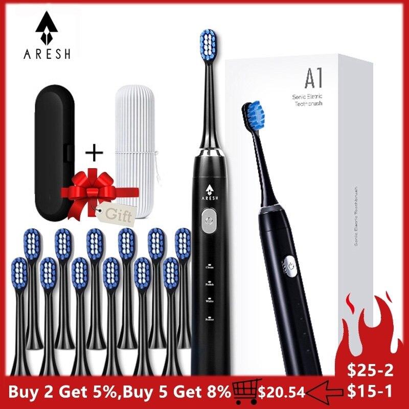 Brosse automatique ARESH A1 brosse à dents électrique intelligente Rechargeable brosse à dents sonique 3 Mode adulte minuterie IPX7 étanche Ultra sonique
