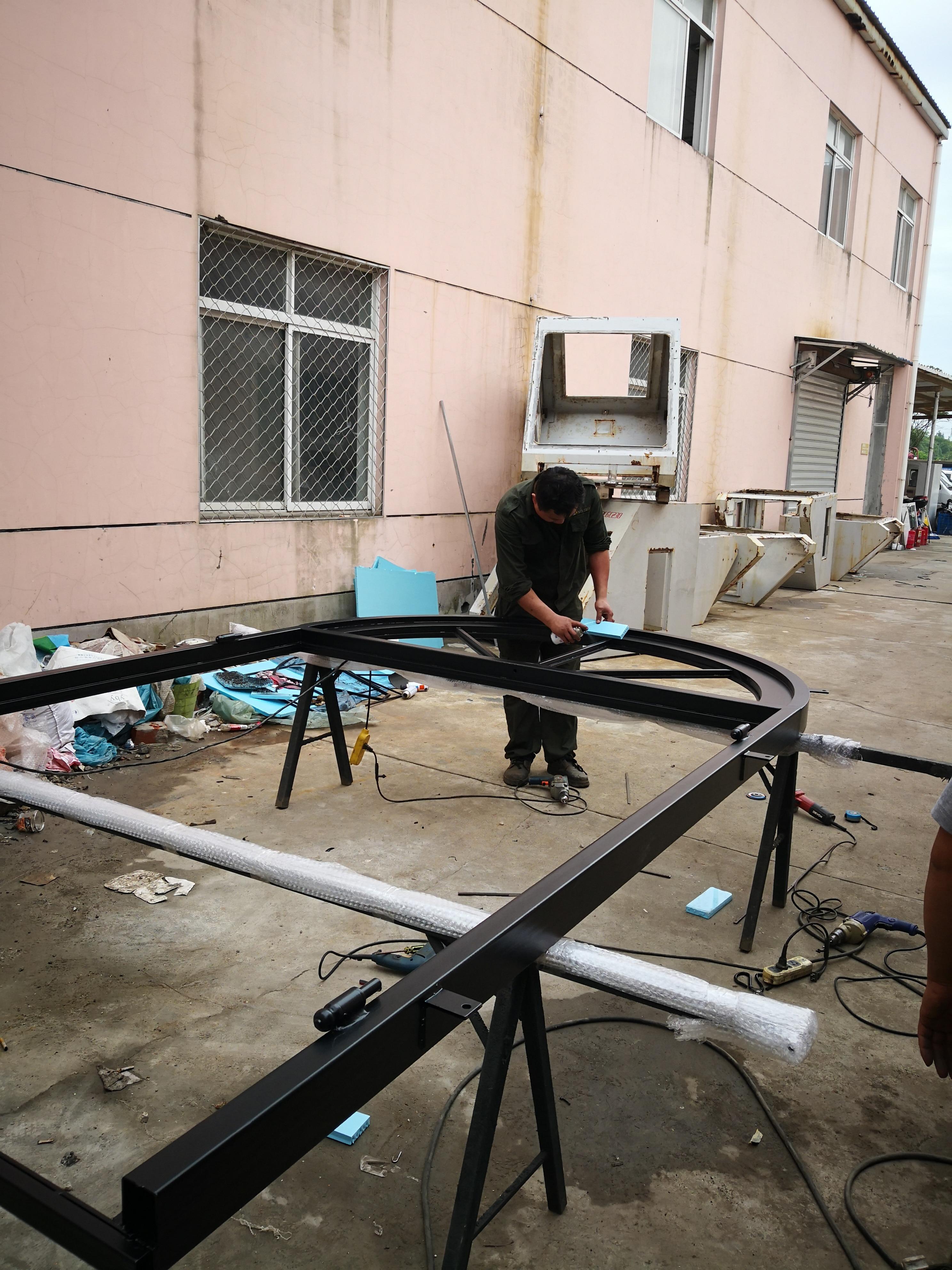 Shanghai Hench Brand China Factory 100% Custom Made Sale Australia Modern Iron Front Doors