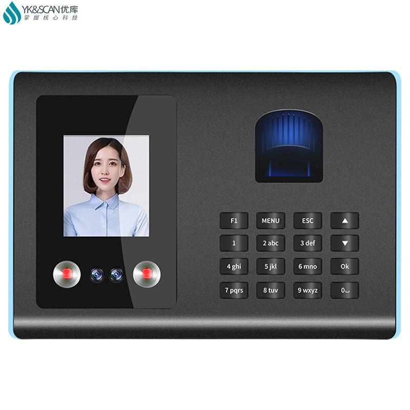 Face Fingerprint Time Attendance USB Pensive   No Software Needed Excel Format