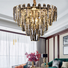 Modern K9 Crystal Led Pendant Chandelier Lights Gold Metal Living Room Led Chandelier Lighting Bedroom Led Hanging Lamp Fixtures chandelier lighting modern crystal lights export k9 crystal chandelier candle chandeliers crystal villa living room chandelier