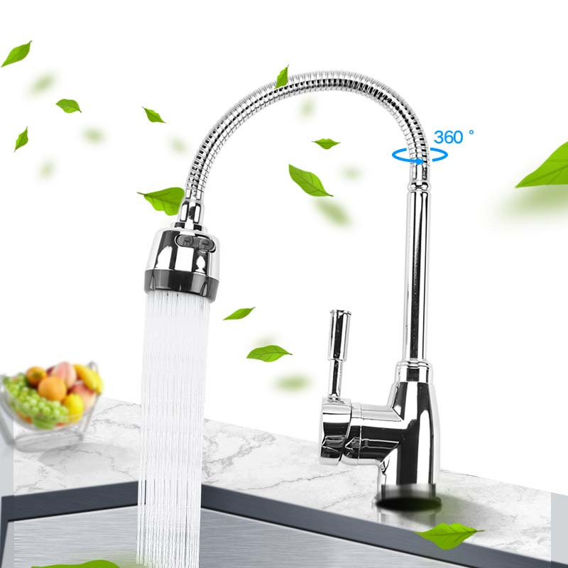 Image 2 - Kitchen 360Degree Rotatable Spout Single Handle Sink Basin Faucet Adjustable Solid Brass Pull Down Spray Mixer Tap Deck MountedKitchen Faucets   -