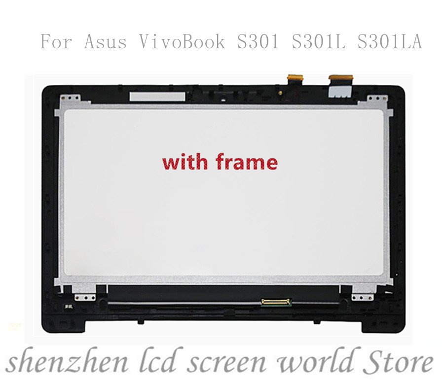 "NUOVO Asus Vivobook s300c s300ca 13.3/"" LCD Touch Screen Digitizer con BAZEL"