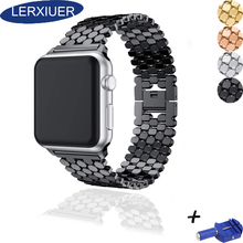 Strap for Apple watch band 42mm 38mm iwatch band 44mm 40mm apple watch 4 3 2 1 Accessories Metal Stainless steel correa bracelet все цены