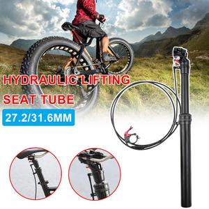 Bicycle seatpost adjustable height mountain bike 27.2 /31.6MM bicycle cable remote control manual control hydraulic seat tube