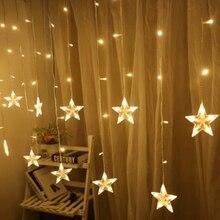 Светодиодный Сказочный светильник со звездами, Рождественская гирлянда, светодиодный, для дома, вечерние, декоративный светильник, для свадьбы, праздника