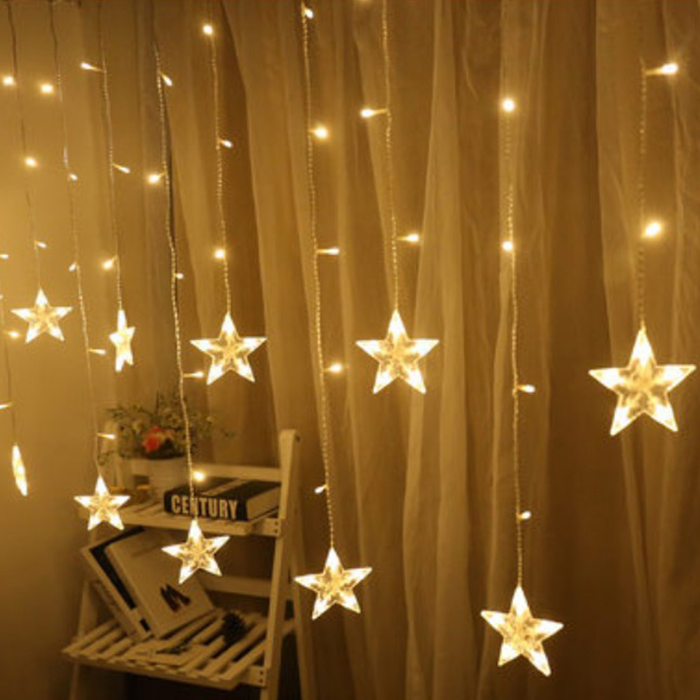 LED Star Fairy Lights String Christmas Garland Led Indoor Home Party Decoration String Light For Wedding Holiday