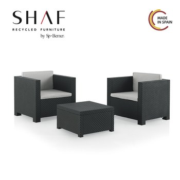 SHAF - Set Rattan Garden Tete A Tete DIVA-Set Ideal For Garden, Terrace Or Any Outside, In Two Colors Available