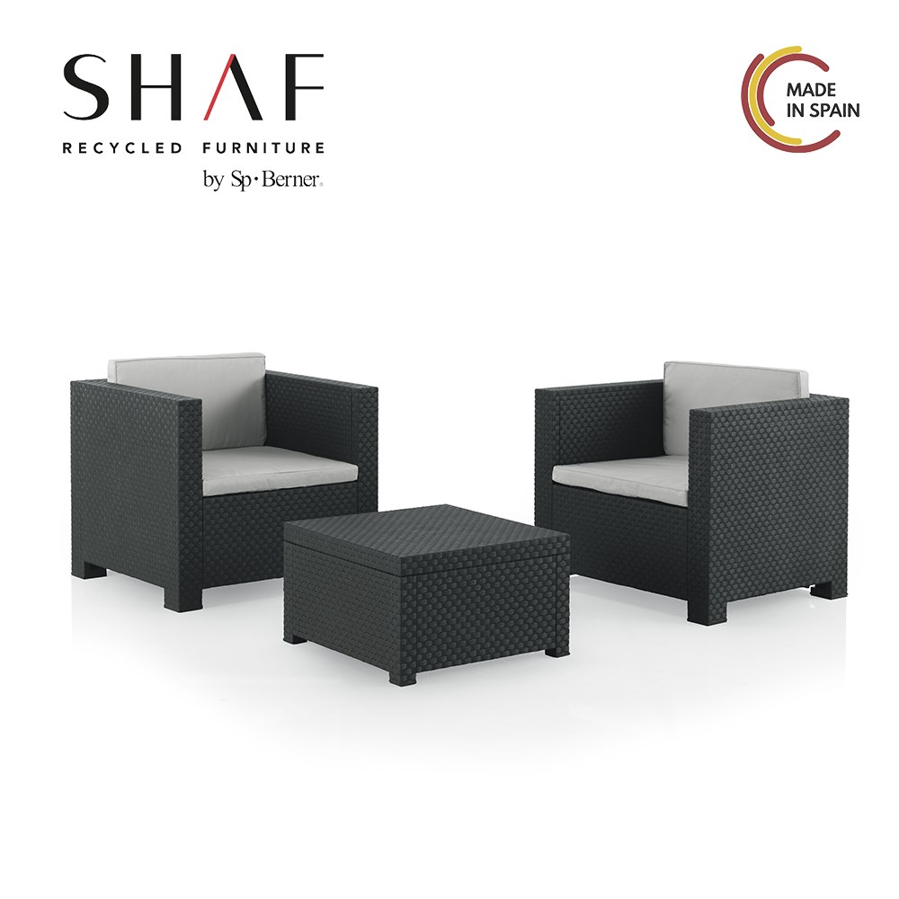 SHAF - Set Rattan Garden You A Te DIVA-Set Ideal For Garden, Terrace Or Any Outside, In Two Colors Available