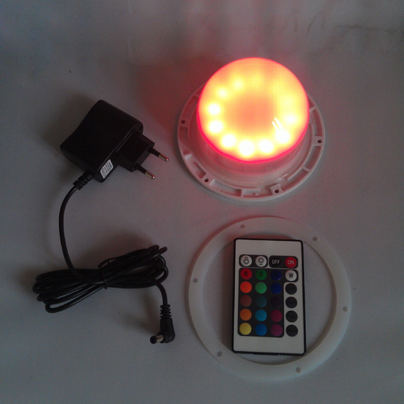 D120mm 5V 1A LED Lights IP65 3600mah Li-battery with remote control RGBW battery powered direct charge 24LEDs 20pcs/lot