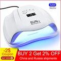 Jewhiteny SUNX 54 Вт УФ лампа Светодиодный лампа для ногтей лак для ногтей Сушилка для ногтей гель лак для ногтей с инфракрасный чувствительный 30/60/...