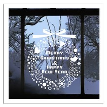 New Year Window Glass PVC Wall Sticker Christmas Gift Snowflake Campanula Tree Home Decal Merry Decor Supplies