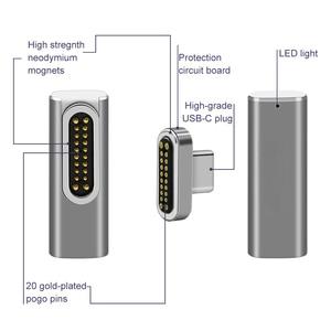 Image 4 - Adattatore USB C magnetica, 20 pin magnetico per USB C 3.1 convertitore adattatore, supporto 100W PD, 10Gbp/s di dati, 4K video di Ricarica Rapida