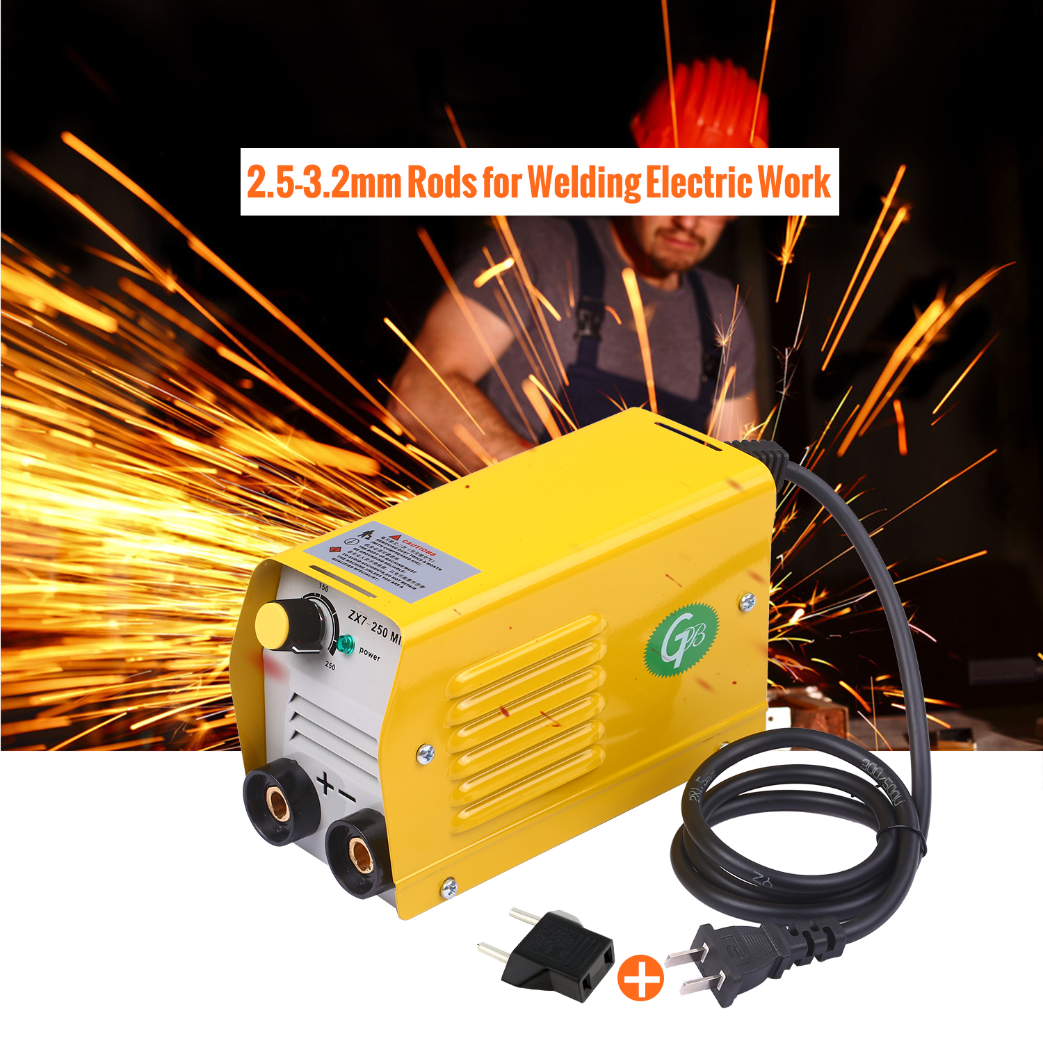 Arc Welding Machine 250Amps IGBT Welding Inventer equipment no-Stick Welder for 2.5-3.2mm Rods for Electric Work with Safety Set
