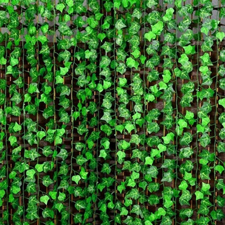 Free Shipping 60 m/lot Grape Leaf Rattan Simulation Artificial IVY Leaves Garland Plants Potato Vine Foliage Festival Decoration image