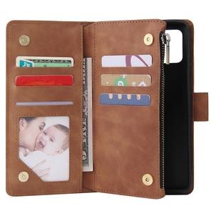 Image 3 - Rits Lederen Voor Samsung Galaxy A01 A11 A21 A41 A51 A71 A81 A91 A50 A30 A70 Case Magnetic Wallet Card flip Stand Phone Bag