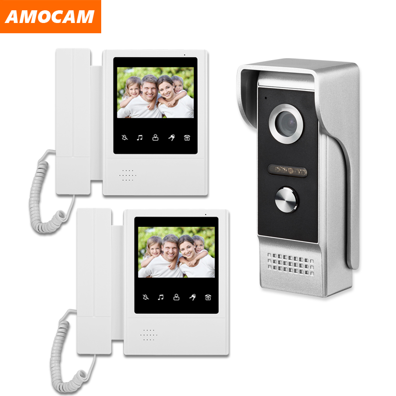 7 inch Home Security Video Intercom Doorbell Surveillance Video Door Intercom for Home Use Intelligent Digital Visual Door Bell Interphone System with Night Vision Unlocking 1#