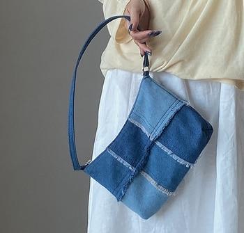 Women's High-Denim Clutch Bags