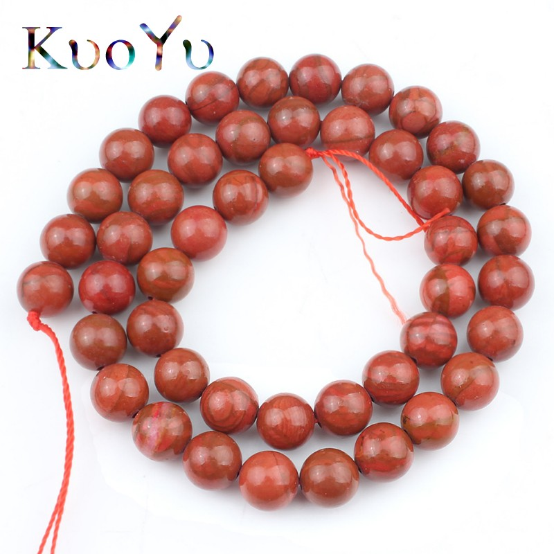 Natural Red Jasper Round Gemstone Loose Spacer Beads Stone Making 4//6//8//10//12 mm