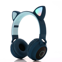 Illuminated Cute Cat Ears Wireless Bluetooth Stereo Earphones With Microphone Christmas Gift For Adult Kids Head Mounted Headset