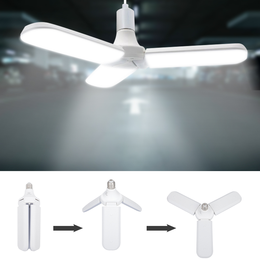LED Deformable Garage Light Ceiling Light 2/3/4 Panels 30W/36W/45W/60W Cold White/Warm White