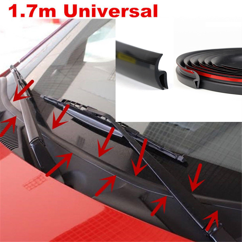 1.7m Car Wiper Front Windshield Panel Moulding Seal Strip For Honda Audi Benz Buick VW Skoda Mazda Ford Toyota BMW E46 E39 M5 X6