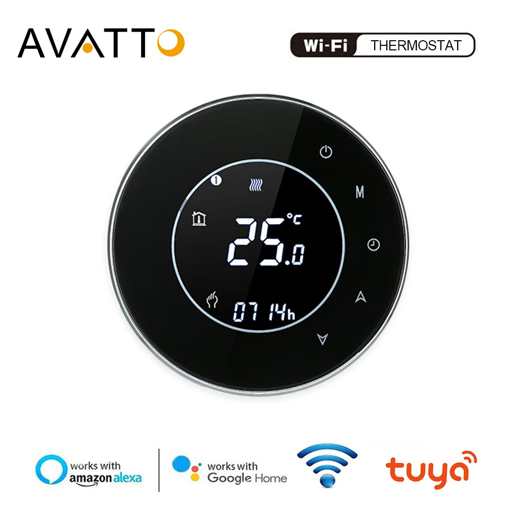 AVATTO Tuya WiFi Smart Thermostat,Electric Floor Heating Water/Gas Boiler Temperature Remote Controller Work With Google Home