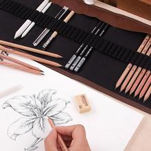 Drawing-Kit Pencil-Bags Art-Supplies Painter Professional Sketching School Students Wood