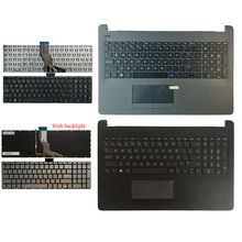 Spanish laptop keyboard for HP Pavilion 15-BW 15-BS 250 G6 255 G6 256 G6 with Gray Palmrest Upper Cover Without touchpad