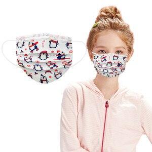 2020 рождественские маски Детские Одноразовые Дышащие маски промышленные 3Ply нетканые защитные маски в наличии маска для лица masque enfant D