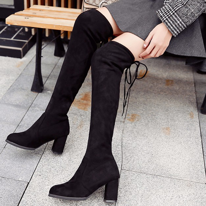 2019 New Over The Knee Boots Sexy Thigh High Black Fashion Winter Women Autumn
