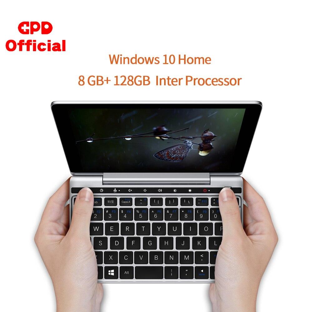 Original último bolsillo GPD 2 CPU m3-8100y pantalla táctil de 7 pulgadas 8GB 128GB Mini portátil de bolsillo sistema Windows 10