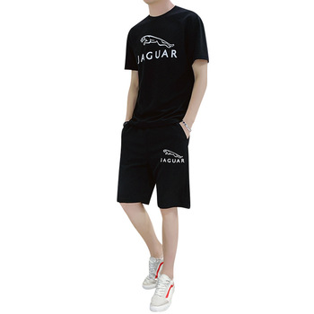 Summer Men Men Sportsuits Set 2020 Mens O-Neck Fashion 2 Pieces T-shirt Shorts Tracksuit Brand Fitness Suits Casual Tee Short