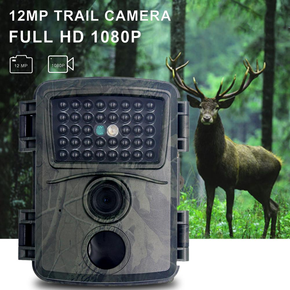 12MP 1080P Trail Hunting Camera with Infrared Sensors Outdoor Motion Activated Night Vision Cam for Animal Monitoring