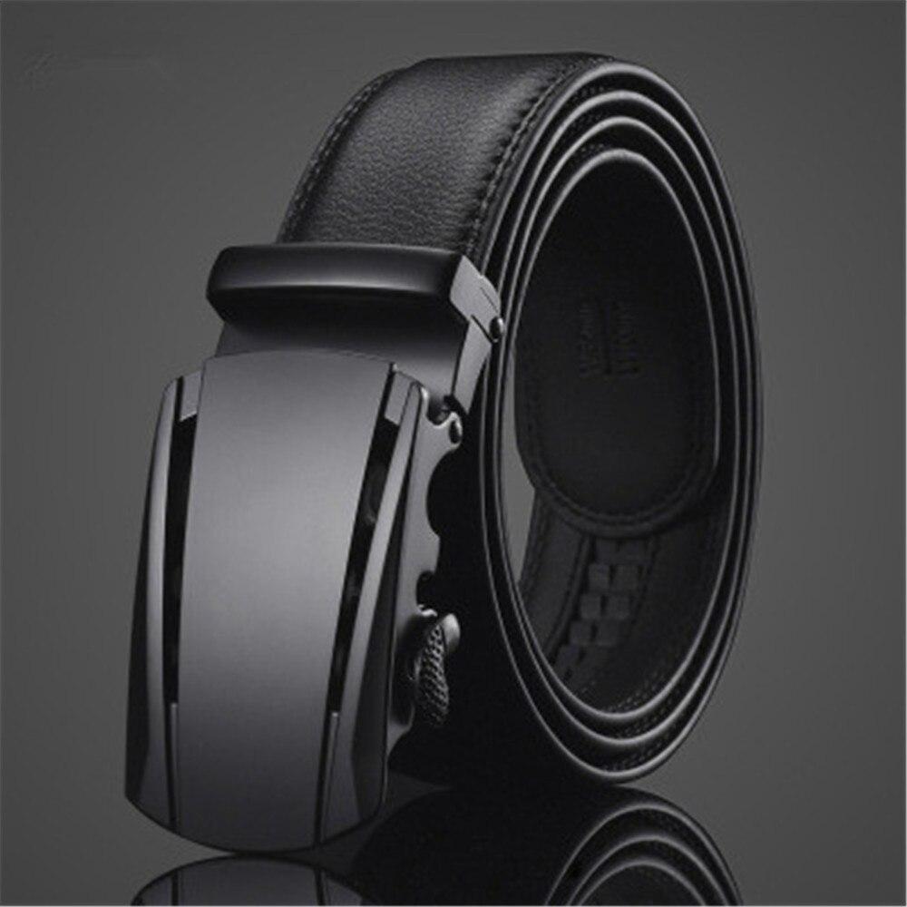 2019 Best Men Imitation Leather Belt Alloy Automatic Buckle Belt High Quality Business Affairs Casual Fashion Men Belt