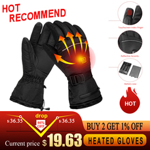 Heated-Gloves Touchscreen Cycling Skiing Electric-Winter Women for Hiking