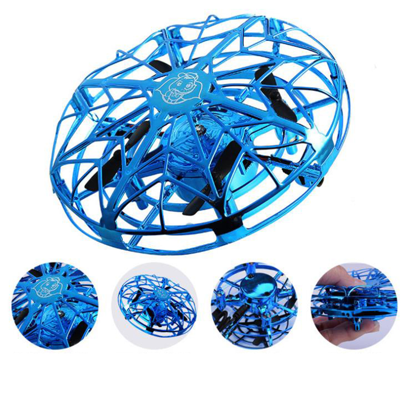 Flying Helicopter Drone UFO Infrared Induction Aircraft Mini RC Drone Anti-collision Flying Kids Electric Electronic Toys