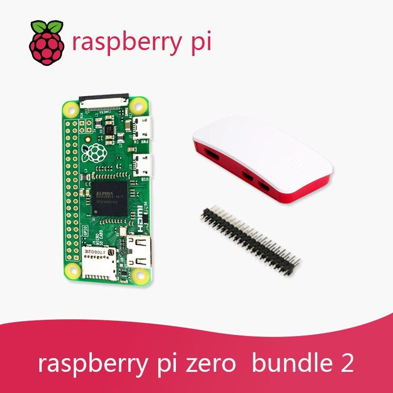 cheapest Raspberry Pi Zero DEV Kit 1GHz single-core CPU 512MB RAM Bundle include Case MINI HDMI uUSB Cable