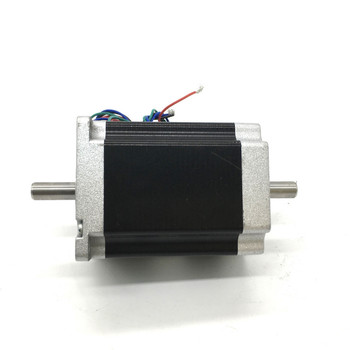 Mask machine 57mm Stepper Motor 84mm Nema23 3A 2.2Nm 320Oz-in 8mm Dual Shaft 2ph 4Wires High Torque for CNC Router Lathe