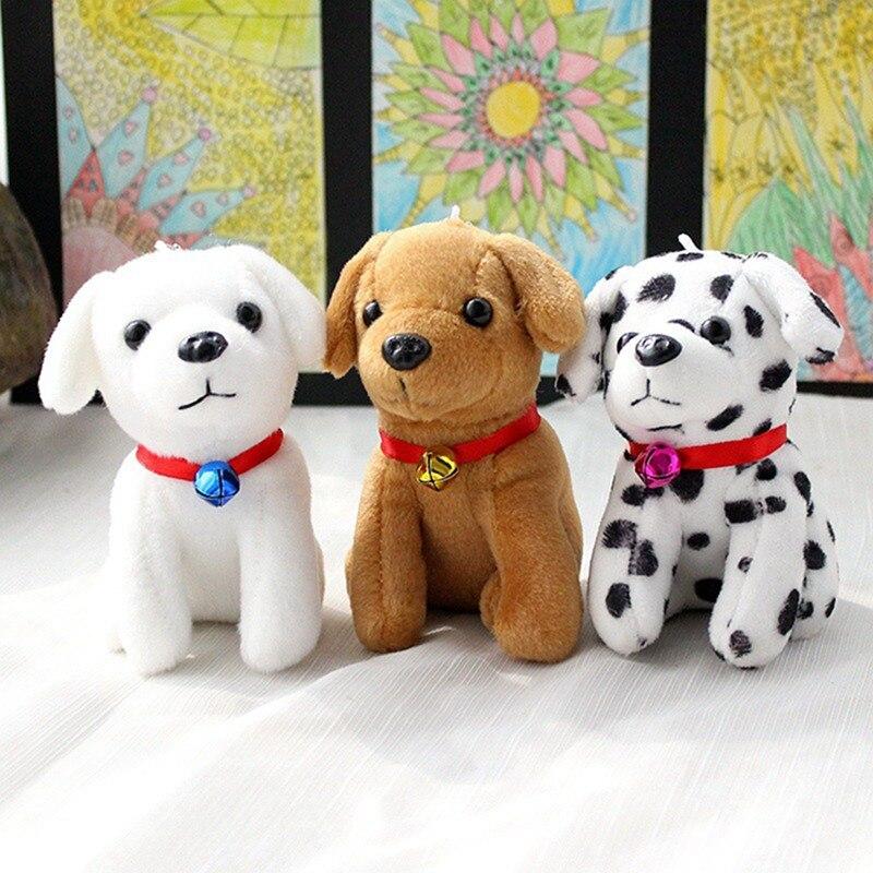 1pcs Simulation Dog Plush Pendant Keychain Toy Doll Cute Simulation Dog Plush Toys Keychain Accessories