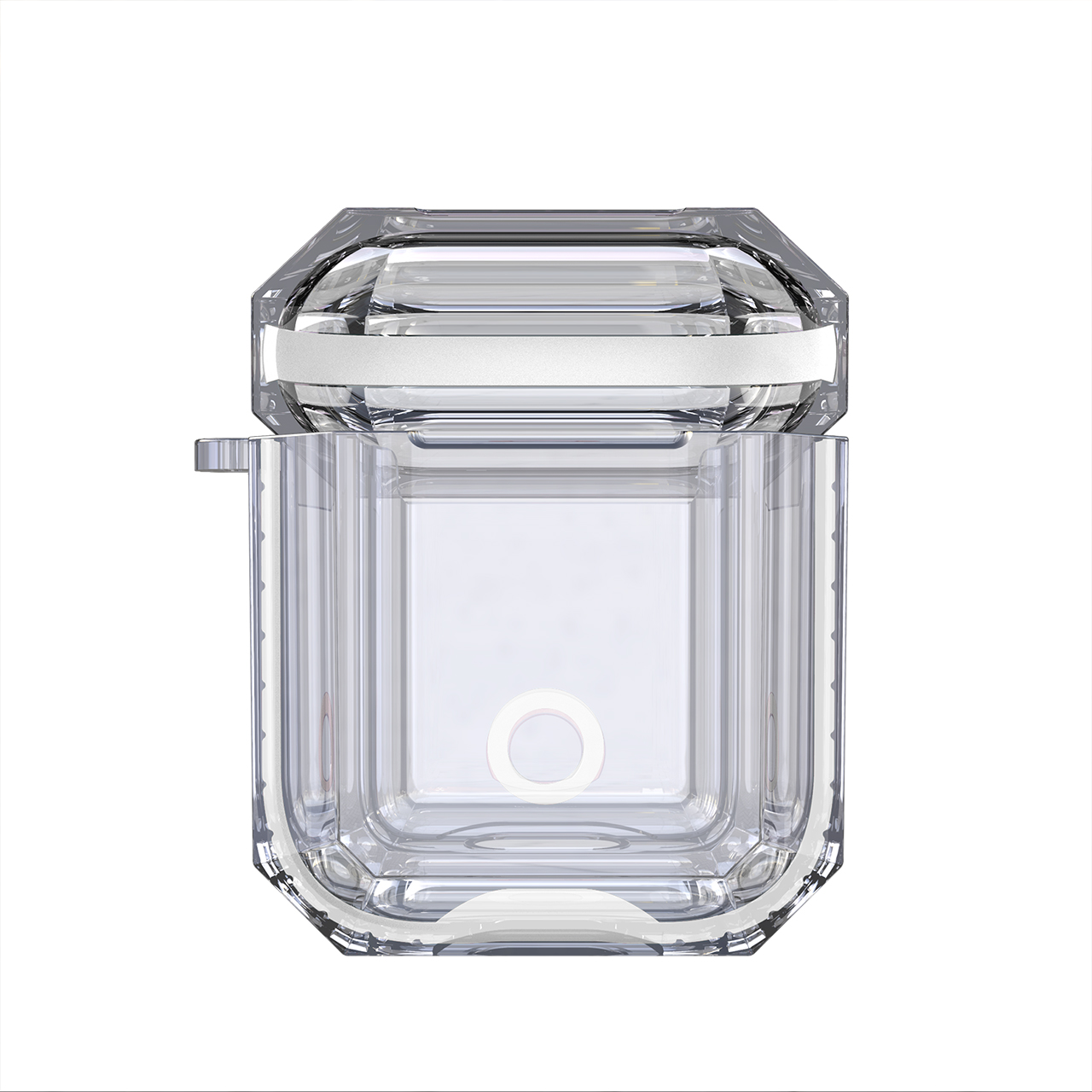 OTTWN Crystal Earphone Silicone Case for <font><b>Apple</b></font> <font><b>Airpods</b></font> 2 1 Soft Transparent Wireless Bluetooth Headset Charging Storage Box image