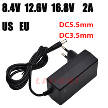 AC 100-240V DC 8.4V 12.6V 16.8V 2A adapter power supply 8.4 V 12.6 V 16.8 V 2000mA Universal charger for 18650 lithium battery