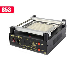 GORDAK 853 High power ESD BGA rework station PCB preheat and desoldering IR preheating station цена 2017