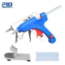 20w alta temperatura aquecedor derreter pistola de cola quente em casa ferramenta de reparo diy uso da ue 7mm cola varas base opcional calor mini arma por prostormer