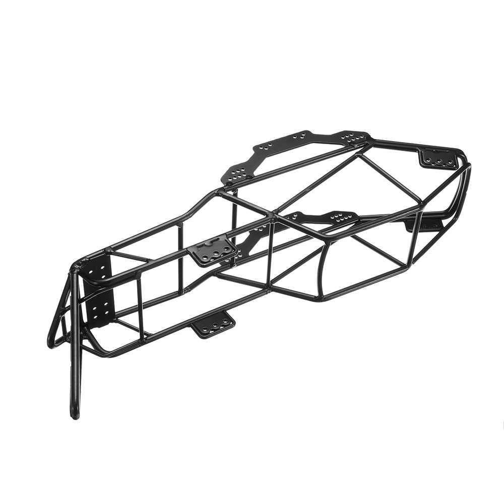 Bilancia Xtra Velocità V In Acciaio della Gabbia del Rullo Telaio Corpo Telaio Nero per Axial SCX10 1/10 RC Roccia Auto crawler Arrampicata Parti del Camion