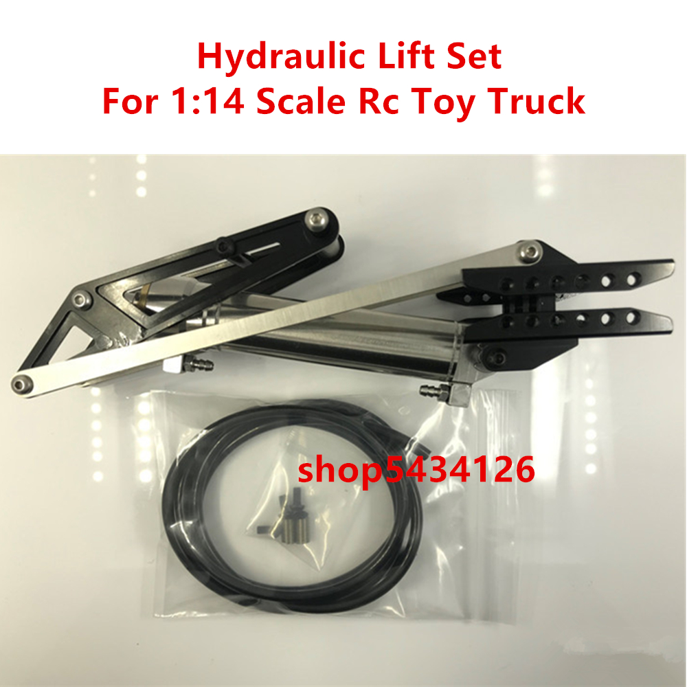 Metal Hydraulic Frame Chassis Lift Sets For 1/14 <font><b>Rc</b></font> Tractor Trailer <font><b>Tamiya</b></font> Arocs Benzz 3348 Engineering <font><b>Dump</b></font> <font><b>Truck</b></font> Accessories image