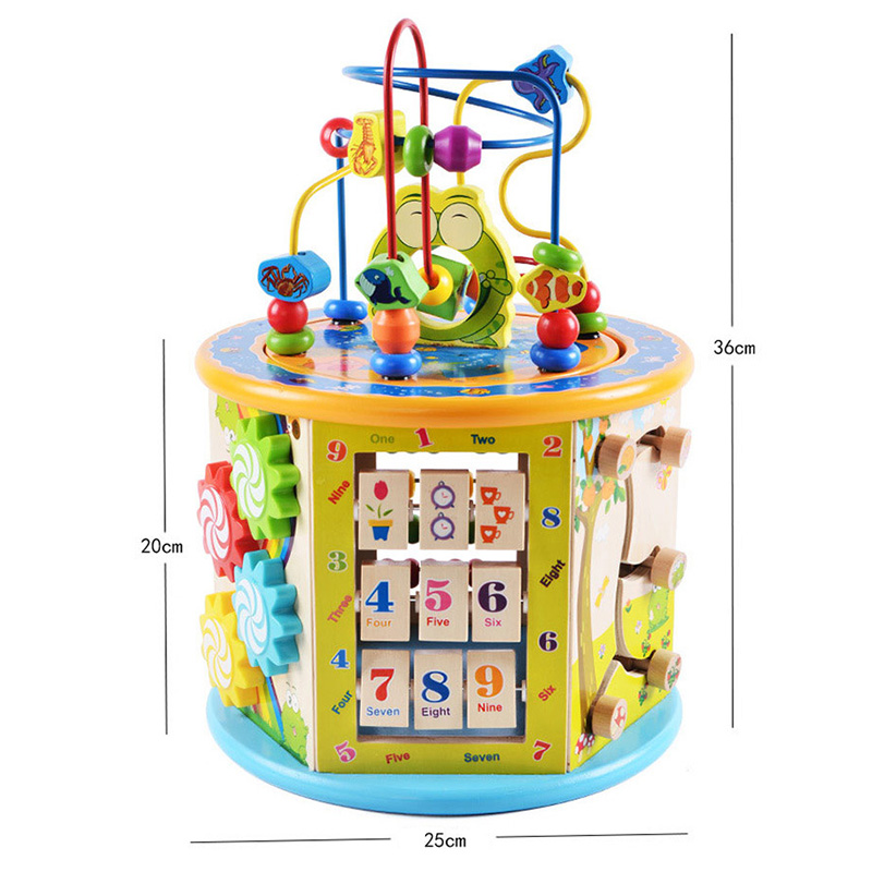 Montessori Houten Speelgoed Houten Cirkels Kraal Draad Doolhof Achtbaan Educatief Houten Puzzels Kid Speelgoed - 4