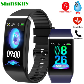 Fitness Bracelet Blood Pressure Pedometer Waterproof Smart Band Heart Rate Monitor Fitness Tracker Watch Men Women Sport Clock