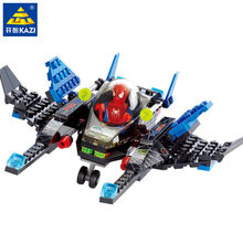 133Pcs Super Heroes Spiderman LegoINGs Building Blocks Sets Figures City DIY Star Wars Kids Bricks Educational Toys for Children(China)