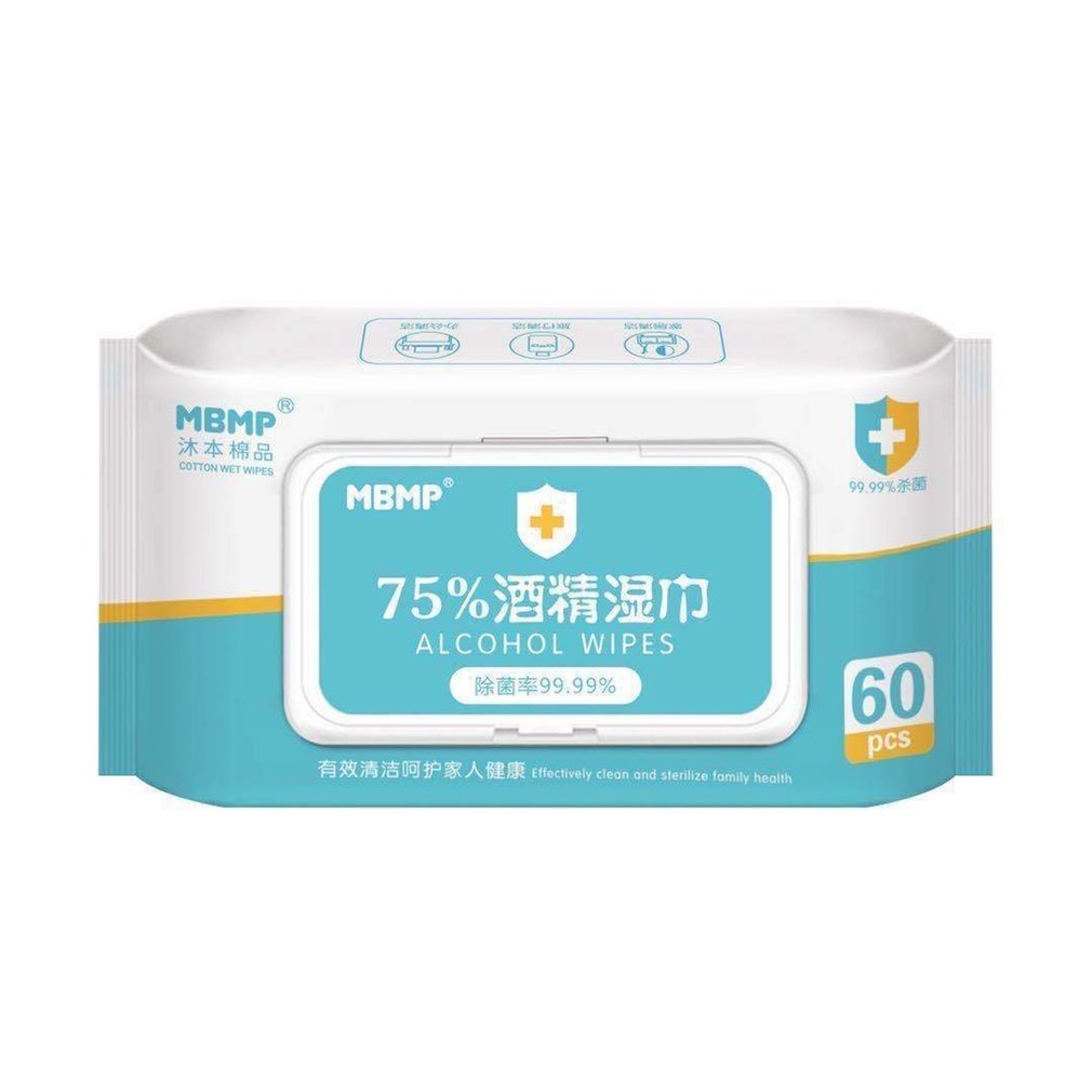 Alcohol Prep Pads /  Disposable Alcohol Wipes  75% Alcohol Sheet For Skin Cleaning Care Jewelry  Mobile Phone Clean 60Pcs /bag